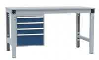 Schubfach-Unterbauten MULTIPLAN, stationär, 3x100, 1x200 mm 700 / Lichtgrau RAL 7035