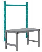 MULTIPLAN Stahl-Aufbauportale ohne Ausleger, Anbaueinheit 1250 / Wasserblau RAL 5021