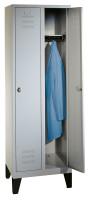 Komfort-Garderobenschrank mit Füßen, Breite 610 mm