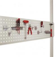 Werkzeug-Lochplatte für Werkbank PROFI 1250 / Lichtgrau RAL 7035