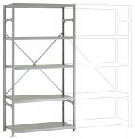 Leichte Fachboden Grundregale PLANAFIX Standard mit Stahlböden, beidseitige Nutzung 500 / 2000