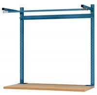 Systemunabhängige Aufbauportale mit Ausleger, für Tischtiefe 600 mm 1000 / Brillantblau RAL 5007