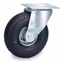 Luft-Bereifte Lenkrolle mit Stopp, Rollenlagerung mit Stahlfelgen Rillen / 200