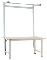 Stahl-Aufbauportale mit Ausleger für PACKPOOL Spezial/Ergo Lichtgrau RAL 7035 / 1500