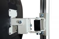 Monitor-Halter für Aufbausäule E-LINE, VESA 75/100 mm Lichtgrau RAL 7035