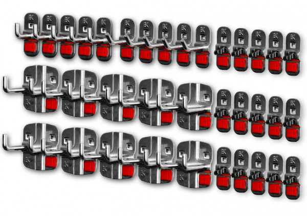 RasterPlan/ABAX Werkzeughalter-Sortiment, 35-teilig