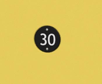 Nummernschild für Kunststoff-Schließfächer
