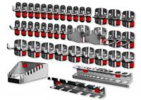 RasterPlan/ABAX Werkzeughalter-Sortiment, 40-teilig Anthrazit RAL 7016