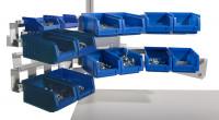 Gebogenes Boxenträger-Element für CANTOLAB & ALU Einfachträger / Lichtgrau RAL 7035
