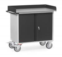 Werkstattwagen Grey Edition mit Abrollrand / 1 zweitürigem Schrank