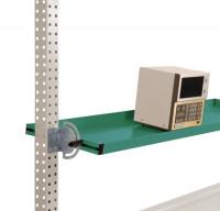 Neigbare Ablagekonsolen für Stahl-Aufbauportale Graugrün HF 0001 / 1250 / 495