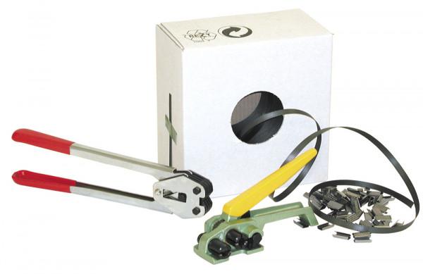 Spannband für einfaches Umreifungsset, Kunststoffband, Rollenlänge 1000 mm, für gelegentliche Umreif