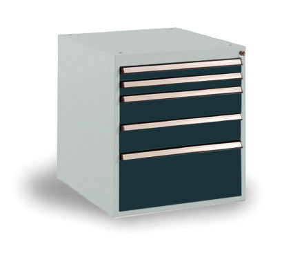 Schubfachschrank BASETEC stationär, 2 x 50, 2 x 100, 1 x 200 mm
