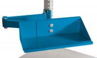 Sichtboxen-Regal-Halter-Element Lichtblau RAL 5012 / Doppelgelenk