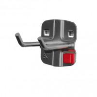 RasterPlan/ABAX Doppelter Werkzeughalter, schräges Hakenende Anthrazit RAL 7016 / 50