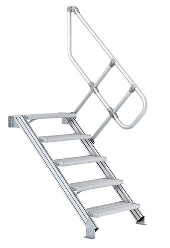 Zweiter Handlauf für Industrie-Treppe, Neigung 60°