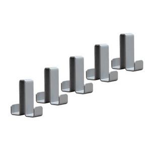 5 Doppelhaken für elegante Reihengarderobe