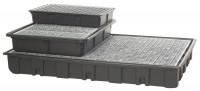 Kunststoff-Auffangwannen für Kleingebinde, aus Polyethylen Mit Gitterrost / 120