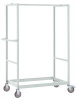 Schwerer Grundrahmen für Etagenwagen Varimobil, Höhe 1730 mm 1250 x 800 / Rubinrot RAL 3003