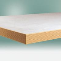 Werkbankplatte PVC weißgrau 40 mm 1000 / 600