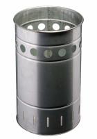 Abfallbehälter 35 Liter Verzinkt