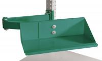 Sichtboxen-Regal-Halter-Element Graugrün HF 0001 / Doppelgelenk