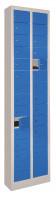 Kleinfachschrank, Anzahl Fächer: 20, HxBxT 1950 x 460 x 200 mm Glatte Türen / Anthrazit RAL 7016