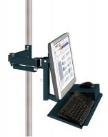 Monitorträger mit Tastatur- und Mausfläche 100 / Anthrazit RAL 7016