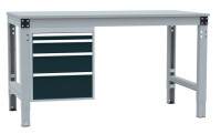 Schubfach-Unterbauten PROFIPLAN, 1x 50, 1x 100, 1x 150, 1x 200 mm Anthrazit RAL 7016