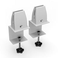 Tischklemmen für AKUSTIX Vario und Vario Eco - Befestigung an Tischkante Weiß