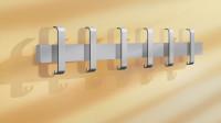 Einzel- oder Reihen-Wandgarderobe Endfeld