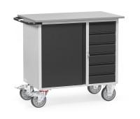 Werkstattwagen Grey Edition ohne Abrollrand / 1 Schrank und 6 Schubladen