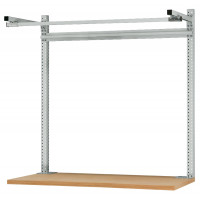 Systemunabhängige Aufbauportale mit Ausleger, für Tischtiefe 600 mm Lichtgrau RAL 7035 / 1000