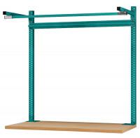 Systemunabhängige Aufbauportale mit Ausleger, für Tischtiefe 600 mm 1000 / Wasserblau RAL 5021