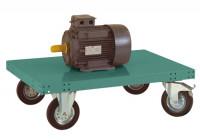 Leichter Plattformwagen TRANSOMOBIL ohne Bügel und Stirnwand Graugrün HF 0001 / 850 x 500
