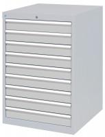 Schubfachschrank MAXTEC stationär, 9 x 100 mm Vollauszug 100%, 180 kg / Enzianblau RAL 5010