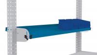 Neigbare Ablagekonsole für MULTIPLAN Arbeitstische 2000 / 345 / Brillantblau RAL 5007