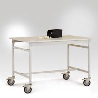 Beistelltischgestell BASIS Mobil, leitfähig 1500 / 600 / Rotorange RAL 2001