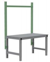MULTIPLAN Stahl-Aufbauportale ohne Ausleger, Anbaueinheit 1000 / Resedagrün RAL 6011
