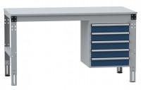Komplettarbeitstische MULTIPLAN Standard Modell 5 Lichtgrau RAL 7035