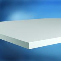 Arbeitstischplatte Melamin lichtgrau 25 mm, leitfähig 1600 / 800