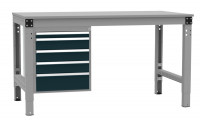 Schubfach-Unterbauten MULTIPLAN, stationär, 1x50, 3x100, 1x150 mm Anthrazit RAL 7016 / 800