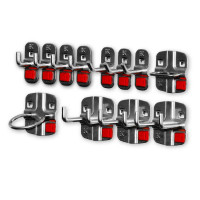 RasterPlan/ABAX Werkzeughalter-Sortiment, 12-teilig Anthrazit RAL 7016