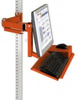 Monitorträger mit Tastatur- und Mausfläche Rotorange RAL 2001 / 100