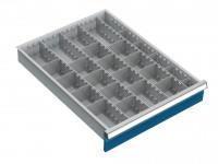 Trennwandset für Schubfachschränke MAXTEC, 4 Längstrennwände 555 / 50