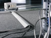 Kabelbrücke aus Aluminium, 20 mm hoch 1500 / Schwarz