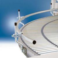 Seitenführungen für Arbeitsplatz-Kleinrollenbahn Kurve 90 ° Außen