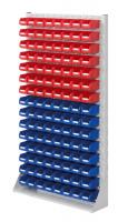 Stellwand mit Sichtlagerkästen, Einseitige Nutzung, Höhe 1790 mm 120 x Gr. 2