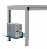 Mini-CPU-Halter für MULTIPLAN / PROFIPLAN Brillantblau RAL 5007