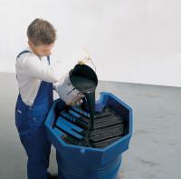 Fasstrichter Ø 690 mm aus Polyethylen, 22 Liter Füllvolumen Ja